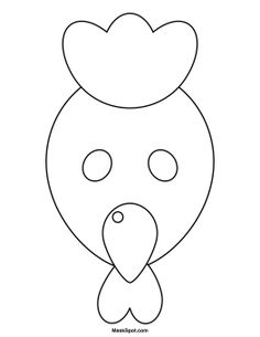 Chicken mask templates including a coloring page version of the