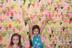 Will make a shower curtain like this for the girl's bathroom!