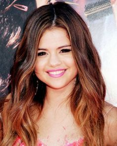 We love Selena's natural mahogany red ombre! More ombre love at http://www.blog.buyhaircaredirect.com
