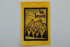 "Gratitude Flag panel from ""May You Always"" flag set......... made from hand carved original block prints by arubymoon"