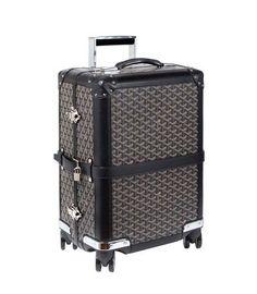 I want this! Goyard luggage roll on trunk!