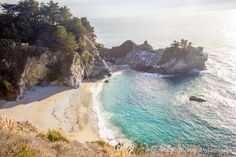 California, McWay Falls: The waterfall that falls onto the beach. I am sure you have seen it in all your friends Instagram photos but McWay Waterfall is just as awesome in real life