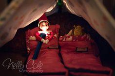 Elf on the Shelf idea - Elf campout