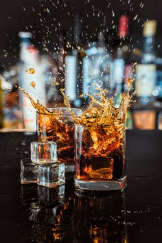 Whiskey splash by Ruslan Grigoriev