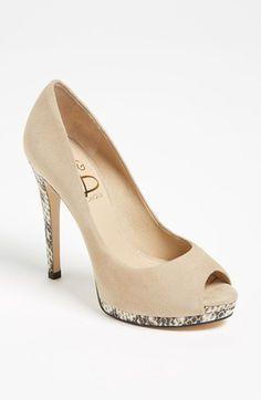 Joan & David 'Delsa' Pump (Nordstrom Exclusive) ~ nude peep toe ~ animal print heels ~ love these shoes!