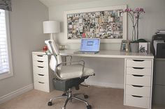 I am on the hunt for a white office desk - hard to come by!
