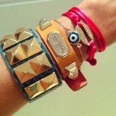 Arm party #pulseirismo #fashion #fashionrio #braceles #brazil  - @camifashiontips- #webstagram