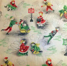 Vintage Christmas Paper... Christmas Past, Retro Christmas, Vintage Holiday, Christmas Gifts, Vintage Christmas Wrapping Paper, Christmas Gift Wrapping, Vintage Paper, Vintage Cards, Minis