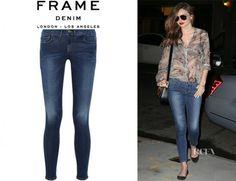 Miranda Kerr\'s Frame Denim Le Skinny de Jeanne | VogueMagz : VogueMagz