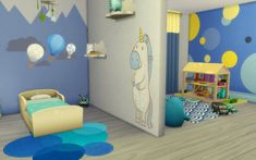 Sims 4 chambre bambin No CC toddler bedroom