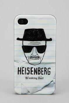 Breaking Bad Heisenberg iphone case.. It better be for 4/4s too, dang it! I want this!!