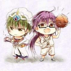 Shintarou Midorima from Kuroko no Basket Sinbad from Magi