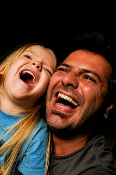 The joy of father and daughter.