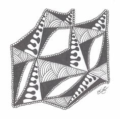 Zentangle - Patterns: ING, Quabog and Shattuck