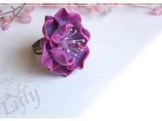 Простой цветок с фактурными лепестками) | Ярмарка Мастеров - ручная работа, handmade