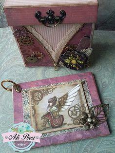 """Mini álbum en caja """"Steampunk"""""""