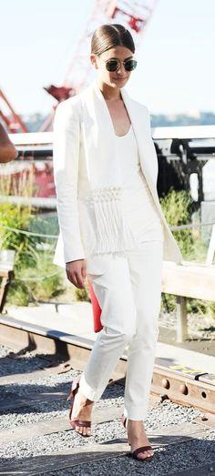 A classic white suit