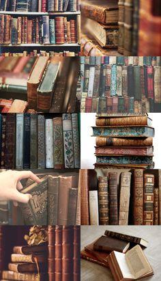 elvencantation: book aesthetic: old books (x) / Tea, Coffee, and Books