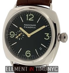 Officine Panerai Radiomir 40mm iN 18k White Gold With A Black Arabic Dial Circa 2000 (PAM 62)