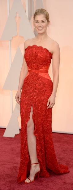 Rosamund Pike Conquers the Red Carpet One Stunning Outfit at a Time