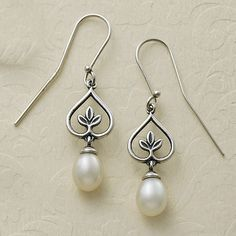 New at James Avery: Our Pearl Vine Ear Hooks are artfully crafted and graced by elegant pearls. #JamesAvery