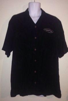 Tommy Bahama #Tjaarda Black Hawaiian Floral Shirt Size Large #TommyBahama #Hawaiian