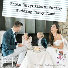 """Check out this week's blog """"Photo Envy: Album-Worthy Wedding Party Pics!"""". Click the link in our profile for the scoop! #eventprofs . Photography @cchangphoto 