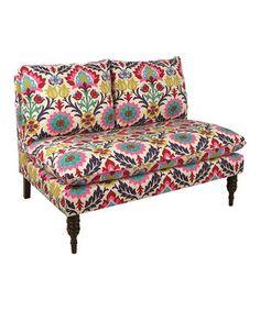 Santa Maria Desert Flower Armless Love Seat by Skyline Furniture #zulily #zulilyfinds