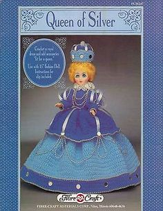 USED-QUEEN-OF-SILVER-15-FASHION-DOLL-DRESS-CROCHET-PATTERN-BOOK-LEAFLET