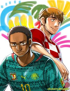 FIFA World Cup 2014: Cameroon and Croatia - Art by ctcsherry.tumblr.com I am Mexican Therefor I have a problem with Croatia fine with Camaroon don't like Croatia