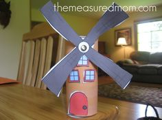 windmill craft 590x442 11 Crafts for Letter W  use a push pin to spin the blades
