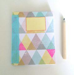 Carnet de note motif géométrique triangle, carnet de note fait main création my…