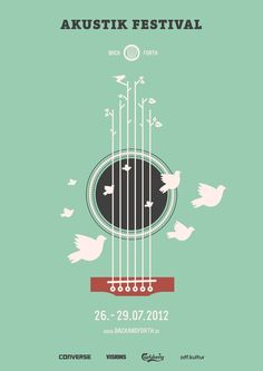 I think this poster feels light and airy, like acoustic music.