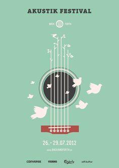 Une affiche aérienne pour l'Akustik Festival | Back and Forth Music par Marcel Bachran