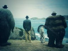 Photo from the set of WHERE THE WILD THINGS ARE. Max, various wild things, and cinematographer Lance Acord.