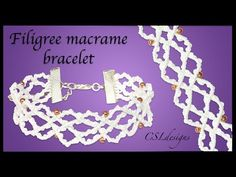 DIY filigree macrame bracelet - YouTube
