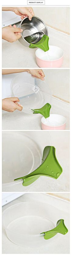 Silicone Soup Funnel Kitchen Tool. #kitchen_gadgets #home #gearbest