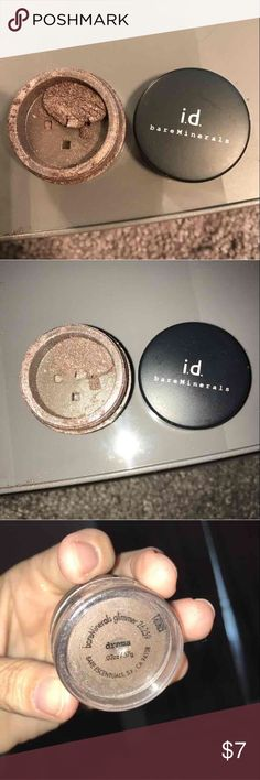 Bareminerals loose eyeshadow in Drama Bare minerals loose eyeshadow in Drama. See pic of how much is left, priced accordingly...all of my bare mineral shadows were purchased at Macy's or Sephora!  Prior to shipping, I will get the shadow down under neath and seal w a small piece of tape to prevent it from all coming up to the top during shipment! Several of the shadows have part of the sticky label that Macy's put on them when purchased.  I have several other bare mineral shadows that are…
