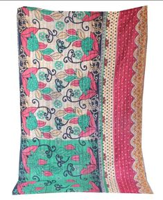 Items similar to Kantha Quilt Reversible Handmade Quilt Vintage Throw Bohemian Blanket Cotton Kantha Bed Cover Indian Bedspread Twin Bedding on Etsy Bedspread, Bedding, Kantha Quilt, Quilts, Winter Blankets, Victorian Terrace, Cotton Blankets, Bed Covers, Twin