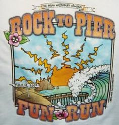 45th running of the Rock to Pier Fun Run. The run/walk is 6 miles and takes place on the hard packed sand from Morro Rock to the Cayucos Pier.