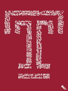 Temple University Typography, Custom Wall Poster, Digital Wall Print