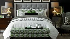 Design your dream bed with custom upholstery from HGTV HOME Design Studio at Bassett