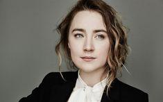 Download wallpapers Saoirse Ronan, Irish actress, portrait, face, gray eyes, photoshoot, black jacket