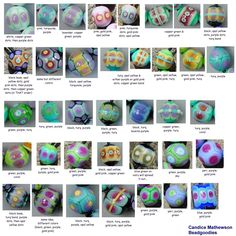 this is a great little reference for some new color ideas... spreading colors #lampwork #beads