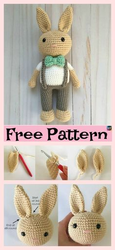 Beautiful Crochet Bunny Headband – Free Pattern #freecrochetpattern #bunny#amigurumi