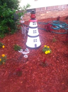 Happy Harvest Home: Clay Pot Lighthouse