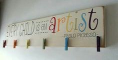 Future playroom- Every Child Is An Artist Children's Art Display by primsnposies
