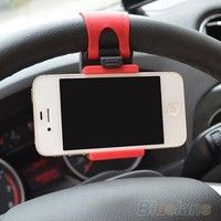 Geek | Car Steering Wheel Mount Holder Rubber Band For iPhone iPod MP4 GPS keeper