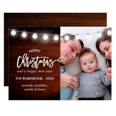 Merry Christmas Holiday Seasons Greetings photo Card - Xmascards ChristmasEve Christmas Eve Christmas merry xmas family holy kids gifts holidays Santa cards