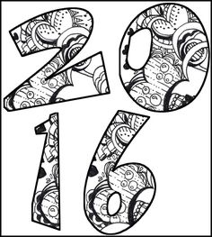 happy new year 2016 coloring pages - Google Search